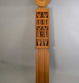 "1960's PEARWOOD GRANDFATHER CLOCK ""SECKLE"" SEASONS"
