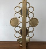 1960年代镜面黄铜蜡烛壁灯架