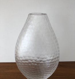 STUDIO GLASS VASE WITH ETCHING