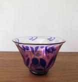 GRAAL 紫色花卉图案的蓝色花瓶和碗