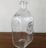 1960's HOGLUND CLEAR GLASS BOTTLE WITH MONKEY MOTIF FOR KOSTA BODA