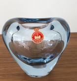 1950年代淡蓝色玻璃大心花瓶