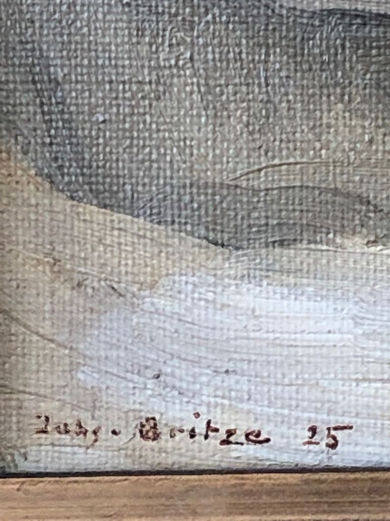 1925 白崖面有框油畫