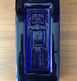 HOGLUND COBALT BLUE GLASS PLAQUE