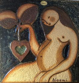 1970年代母亲陶瓷墙匾