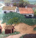 """""""VIEW FROM MARGRETETORP"""" SIGNED WATERCOLOUR"""