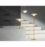 PH 3 1/2-2 1/2 蛋白石玻璃灯罩黃銅色面地灯