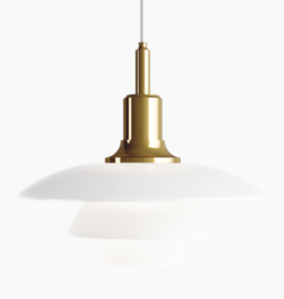 PH 3 1/2-3 GLASS PENDANT LAMP IN BRASS FINISH