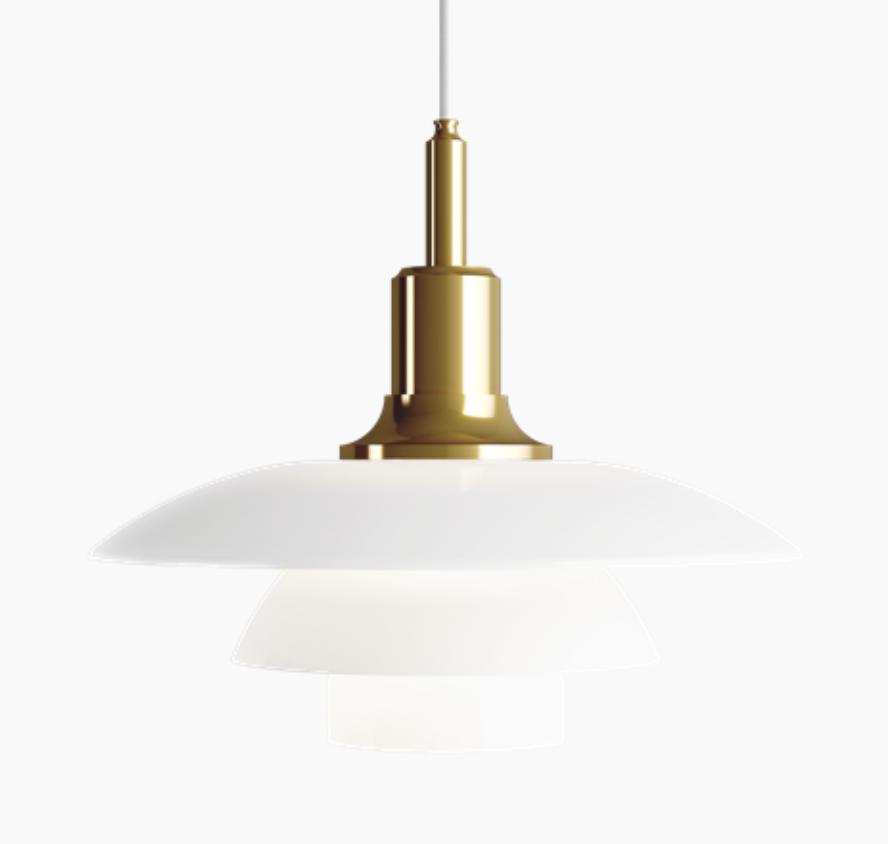 PH 3 1/2-3 蛋白石玻璃銅面吊灯