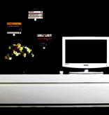 STG150 STOW MEDIA BENCH IN LIGHT GREY