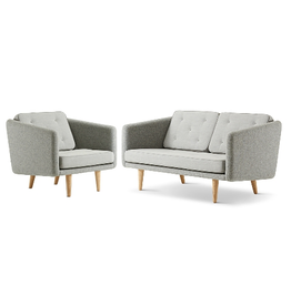 NO. 1 2-SEATER SOFA & CHAIR
