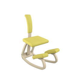 VARIABLE BALANS KNEELING CHAIR WITH BACK IN YELLOW