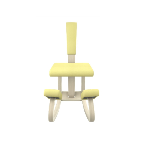 VARIABLE BALANS 黃色布料連背跪椅