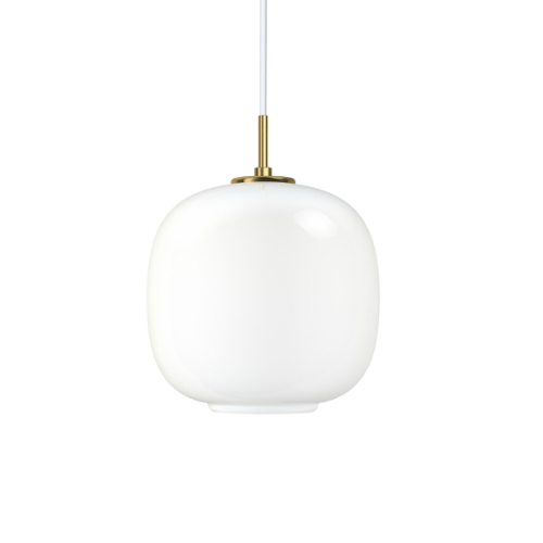 VL45 RADIOHUS 光泽白色口吹玻璃罩吊灯