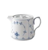 ROYAL COPENHAGEN BLUE FLUTE PLAIN TEA POT 75CL
