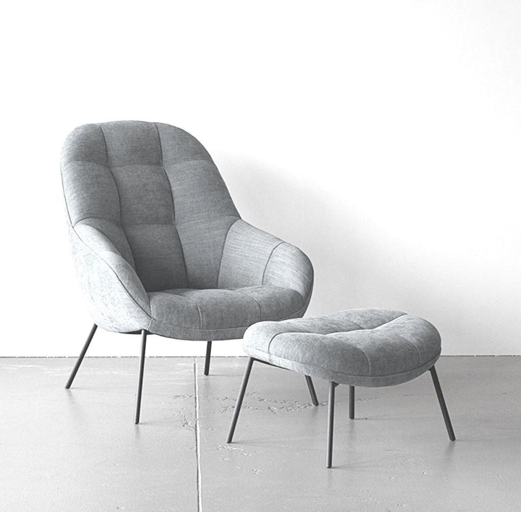 MANGO 浅灰色布料休闲椅连脚踏