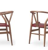 CH24P WISHBONE 山羊皮坐墊叉骨椅 (生日特別版)