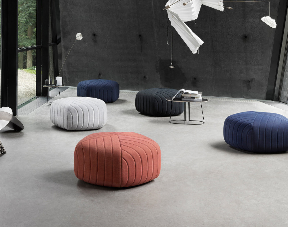 FIVE POUF IN REMIX FABRIC