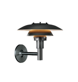 PH 3-2 1/2 OUTDOOR WALL LAMP, BLACK POWDER COATED