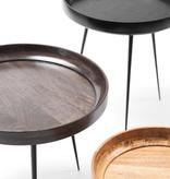 MANGO BOWL TABLE IN BLACK STAIN FINISHED MANGO WOOD