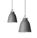 CARAVAGGIO PENDANT LIGHT IN DARKER GREY MATT LACQUER