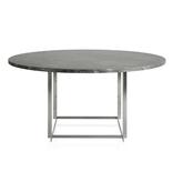 PK54 灰棕色 (已磨) 大理石面餐桌