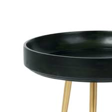 MANGO BOWL TABLE IN NORI GREEN STAINED MANGO WOOD