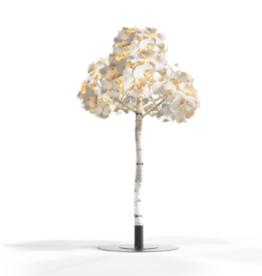 GREEN FURNITURE LEAF LAMP TREE