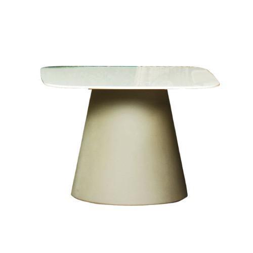 LOULOU50 正方形桌子连白色层压板桌面