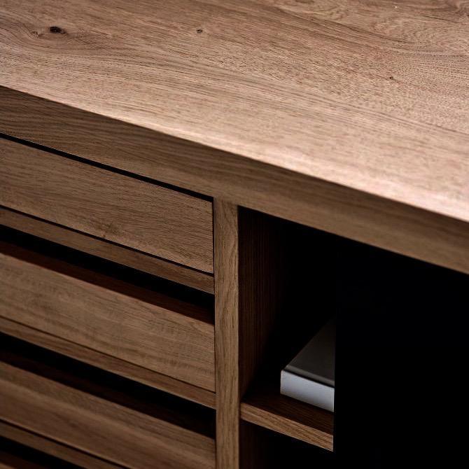 (陳列品) GRAND SIDEBOARD 胡桃木油妆柜子连脚