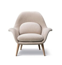 1770 SWOON LOUNGE CHAIR IN MAPLE FABRIC