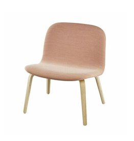 (SHOWROOM ITEM) VISU LOUNGE CHAIR SHELL UPHOLSTERED IN PINK