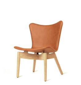 SHELL 锈咖啡色皮革休闲椅