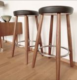 CH56 HIGH STOOL IN SOLID OAK
