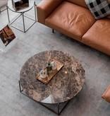 (SHOWROOM ITEM) CIRCLE LARGE COFFEE TABLE IN DARK EMPERADOR MARBLE
