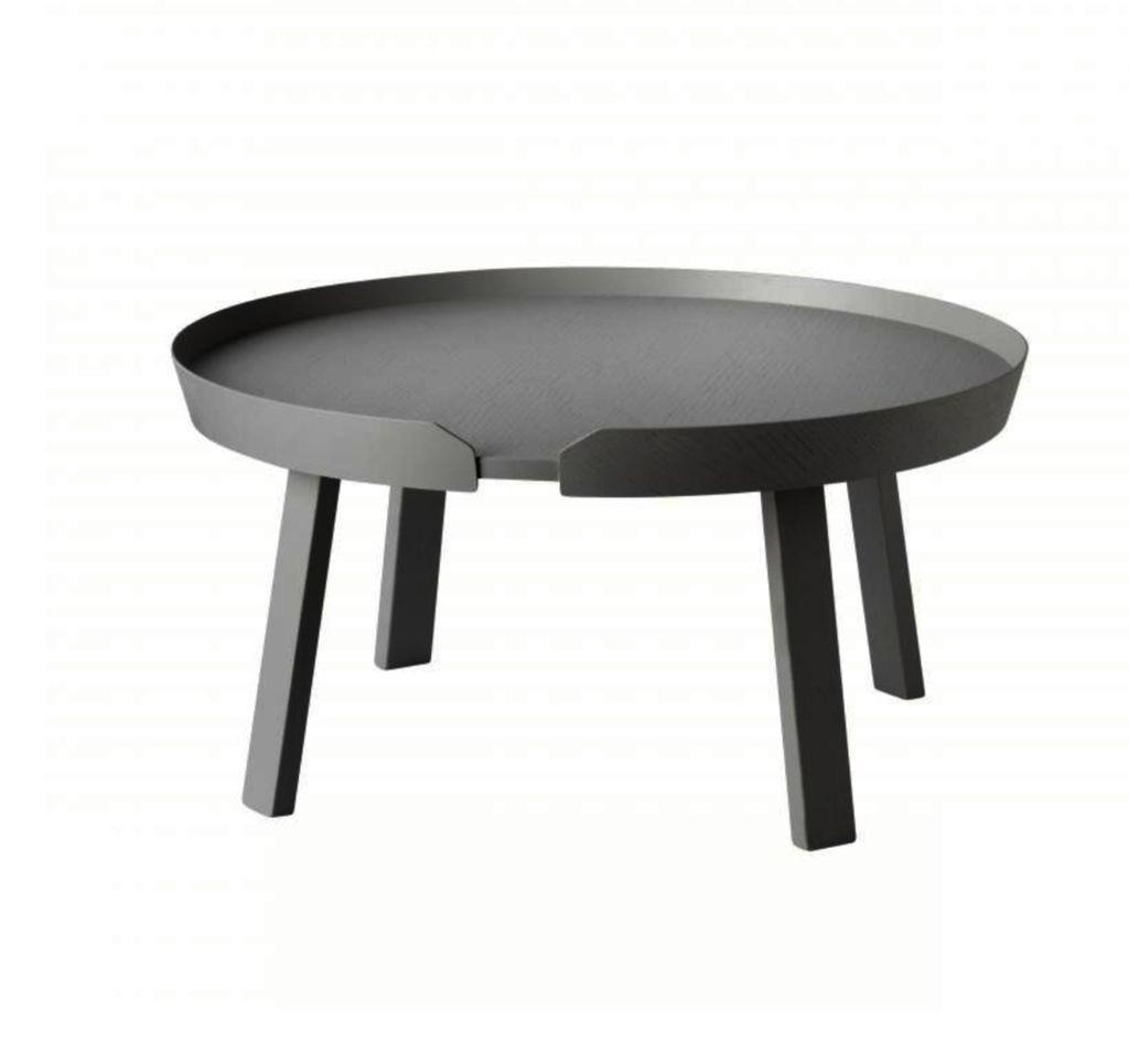 AROUND COFFEE TABLE LARGE IN DARK GREY ASH
