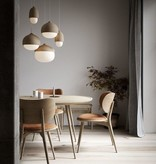 OAK & LEATHER DINING SUITE FOR 4 PERSONS DESIGNED BY SPACE COPENHAGEN