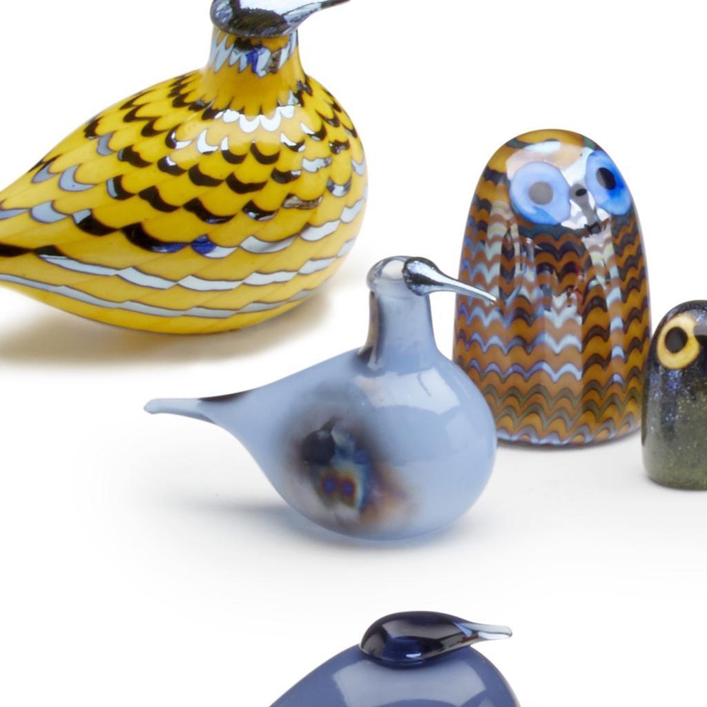 BIRDS BY TOIKKA 藍天麻鹬玻璃鳥