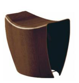 1610 GALLERY STOOL IN WALNUT