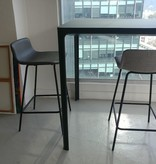 4317 PATO 灰色皮柜台凳