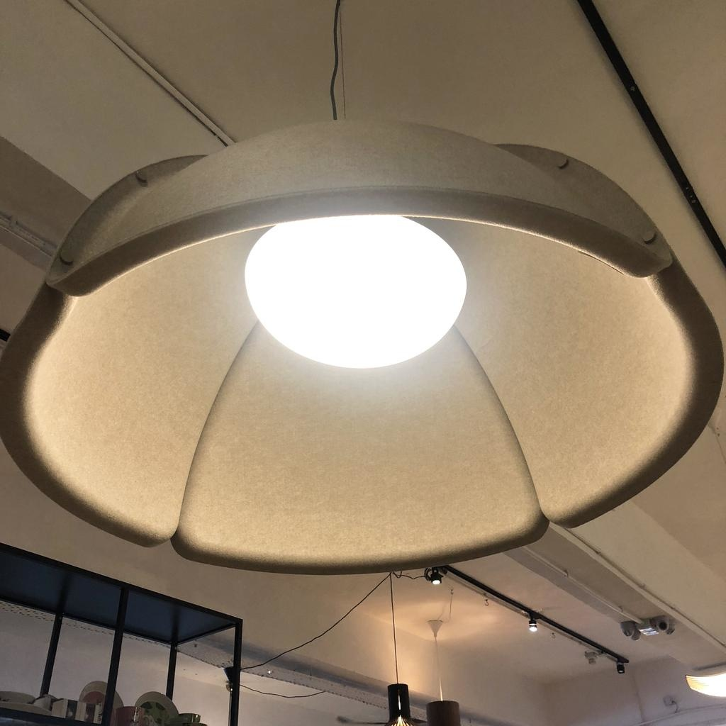 (SHOWROOM ITEM) HOOD LED PENDANT LAMP IN SAND COLOUR