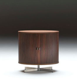 AK1365 OVAL CABINET IN WALNUT