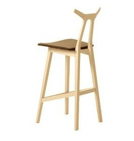 (DISCONTINUED) 1842 NARA BARSTOOL IN LEATHER