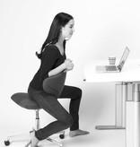 ACTIVE HEIGHT ADJUSTABLE SWIVEL CHAIR IN  DARK GREY