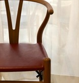 CH24P WISHBONE CHAIR BIRTHDAY EDITION IN GOAT LEATHER SEAT
