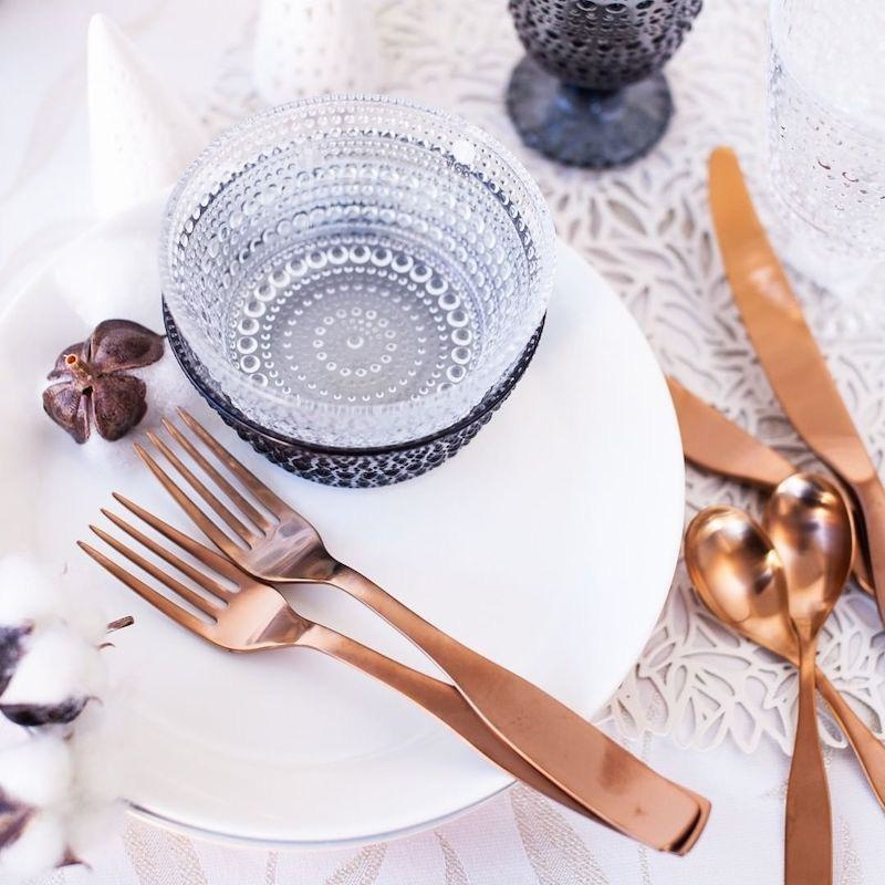 CITTERIO 98 24PC FLATWARE SERVICE FOR 6 PERSONS IN ROSE GOLD