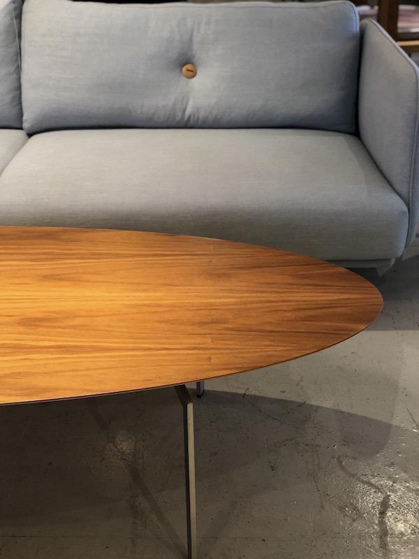TRIPPO OVAL SHAPED COFFEE TABLE IN WALNUT