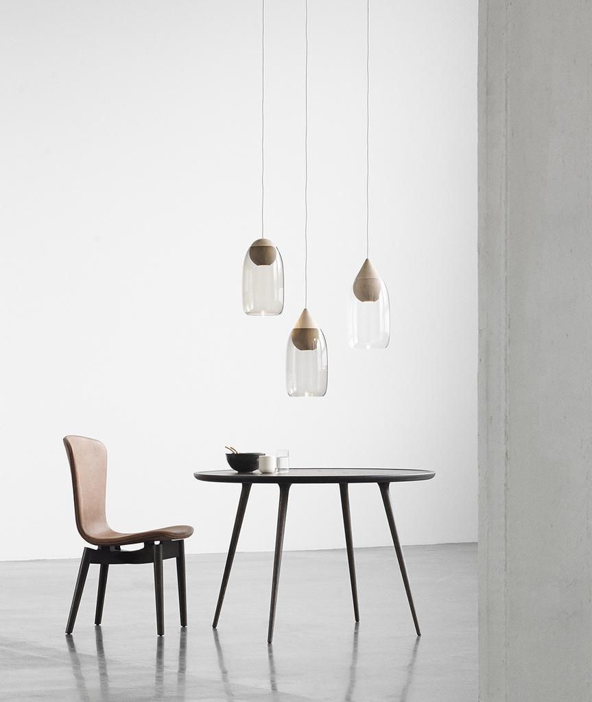 SHELL 锈咖啡色皮革餐椅