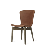 SHELL DINING CHAIR IN SORENSEN DUNES RUST LEATHER