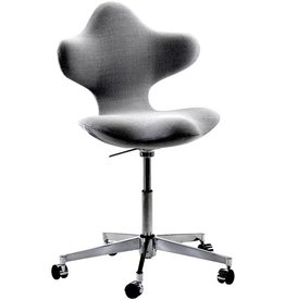 ACTIVE HEIGHT ADJUSTABLE SWIVEL CHAIR IN  DARK GREY